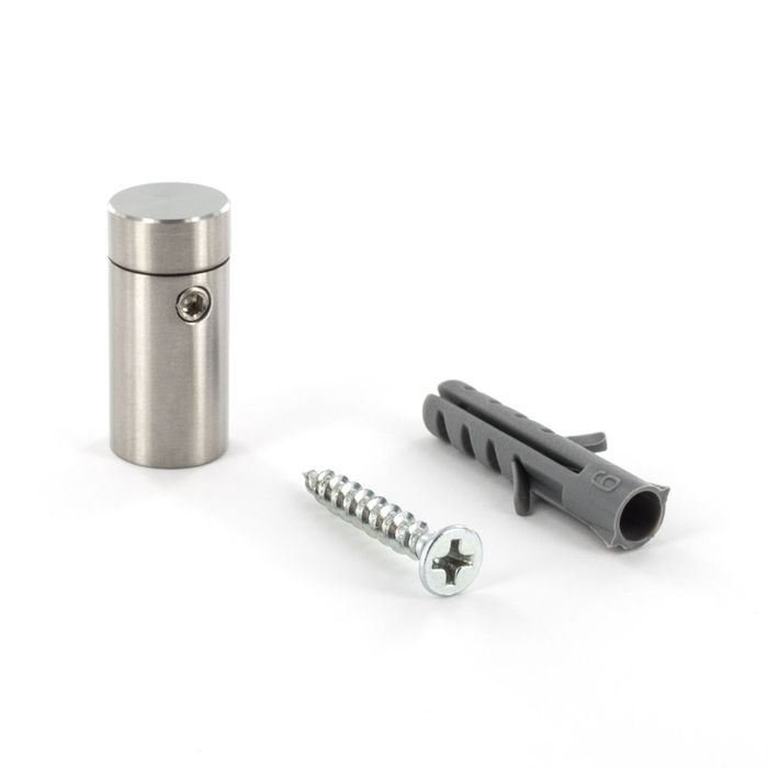 "1/2"" Diameter x 3/4"" Barrel Length Brushed Stainless Finish Eco Easy Edge It No Drill Standoff"
