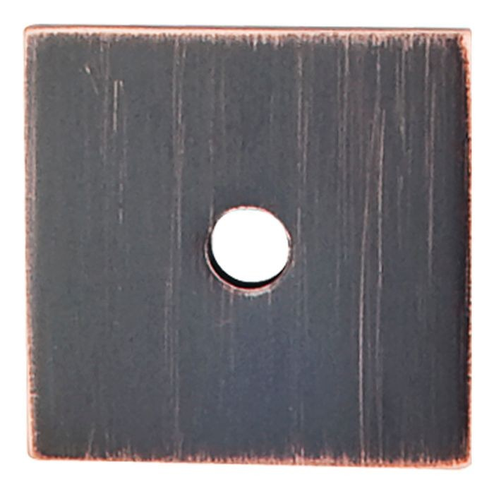"Square Backplate 1"" Diameter Tuscan Bronze"