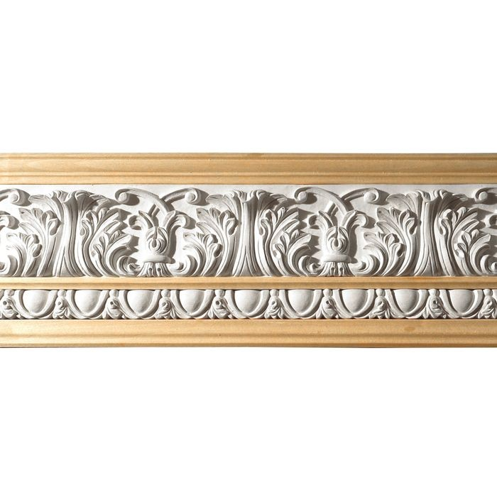 10in H x 1-1/2in Proj | Unfinished Polymer Resin | 480-C Series with Bottom Style 1 | Frieze Moulding | 10ft Long