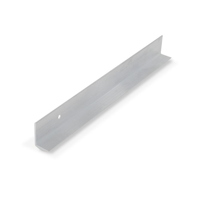 1/2in Brushed Satin Finish Aluminum | Cove Moulding With Holes | 12ft Length