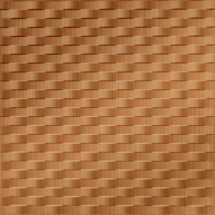 10' Wide x 4' Long Weave Pattern Brushed Copper Finish Thermoplastic Flexlam Wall Panel
