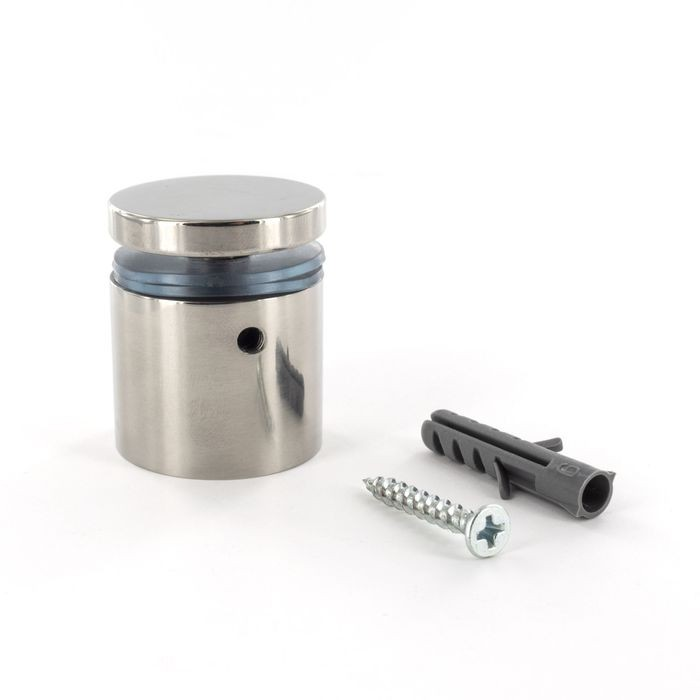 1-1/4in Dia x 1in Barrel Length | Polished Stainless Finish | Eco Lock Series | Tamper Proof Standoff