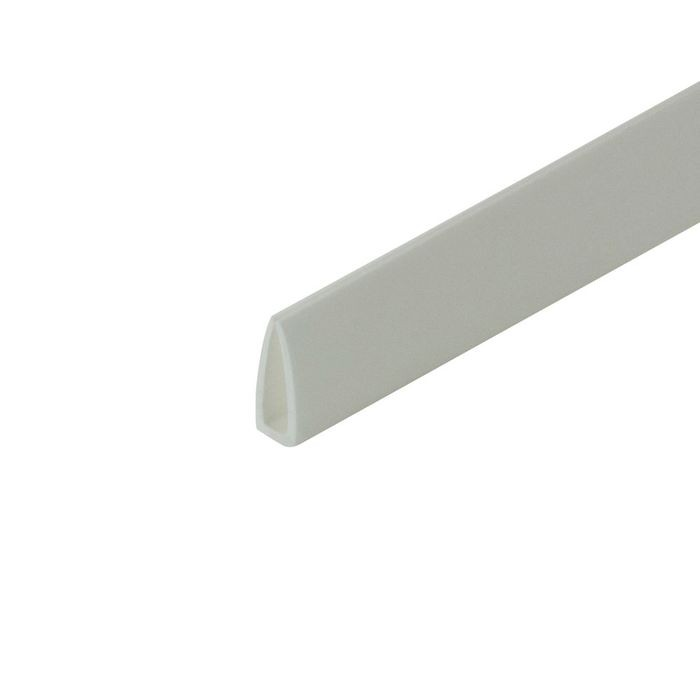"1/8"" White Rigid Styrene Clamp Moulding 8' Length"
