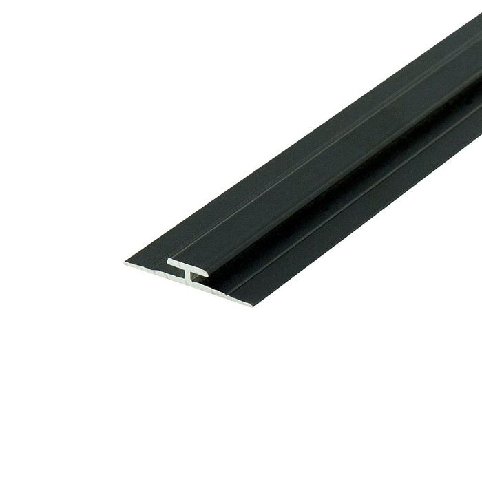 "1/16"" Black Aluminum Divider Moulding 12' Length"