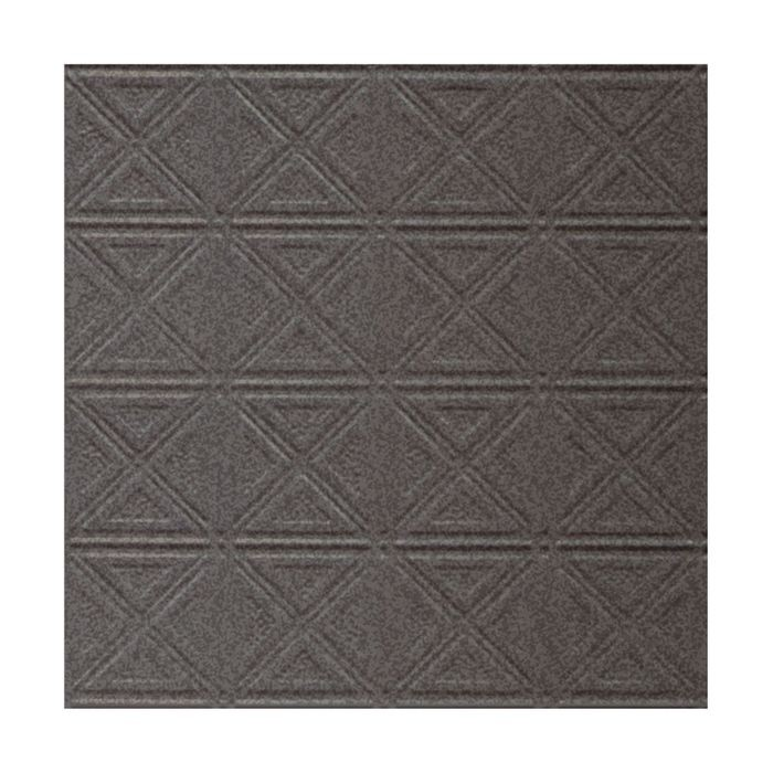 Tin Plated Stamped Steel Ceiling Tile | Lay In | 2ft Sq | Silver Vein Finish