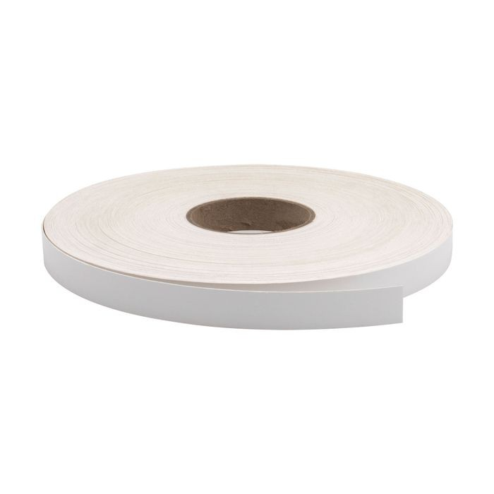 "13/16"" Wide White Pre-Glued Iron On Tape 250' Coil"