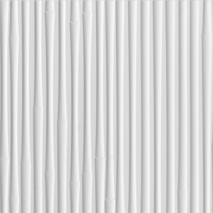 10' Wide x 4' Long Bamboo Pattern White Finish Thermoplastic Flexlam Wall Panel