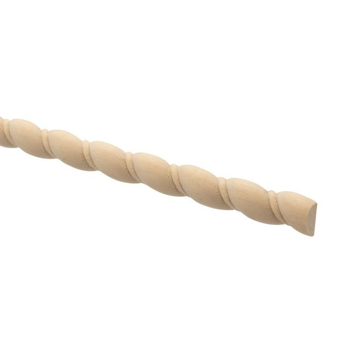"1/2"" Wide Poplar Accent Rope Moulding"