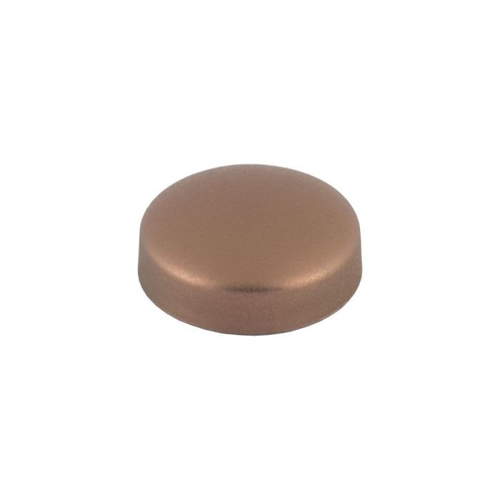 ".700"" Satin Copper Finish Polypropylene Pop-On Screw Cover"