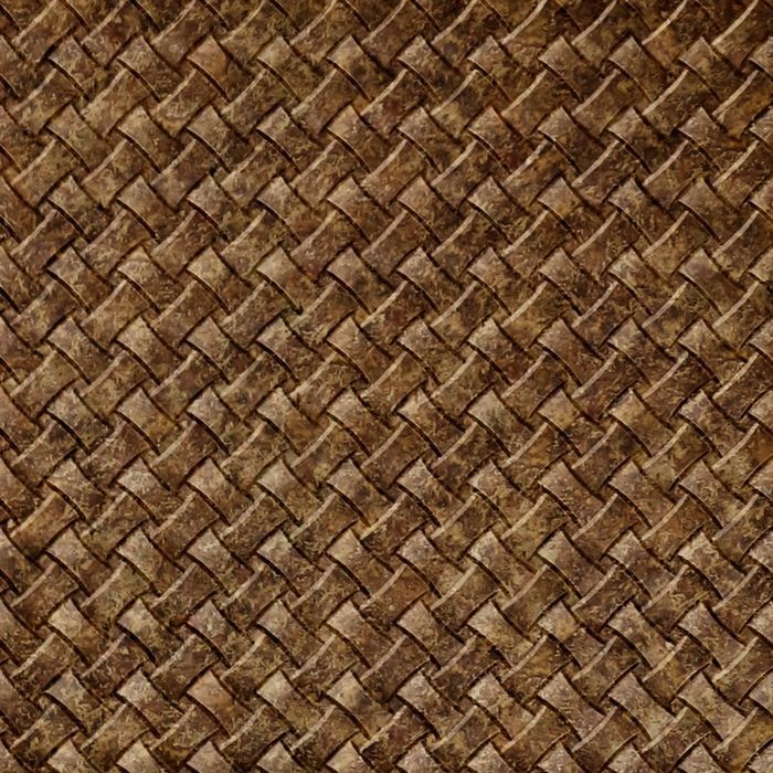 10' Wide x 4' Long Celtic Weave Pattern Bronze Fantasy Finish Thermoplastic Flexlam Wall Panel