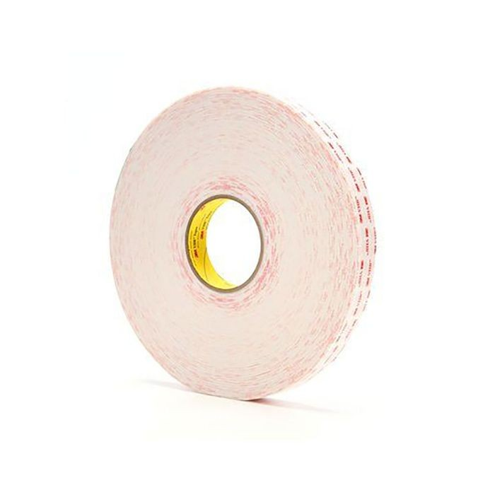 "1"" Wide x .025"" Thick White 3M VHB Foam Tape 216' Long Roll"