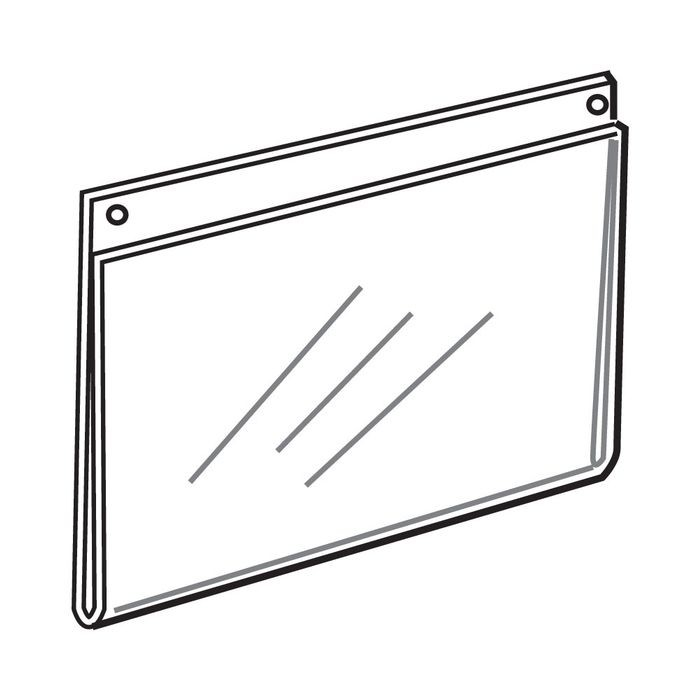 "11"" High x 17"" Wide Horizontal Acrylic Wallmount Sign Holder"
