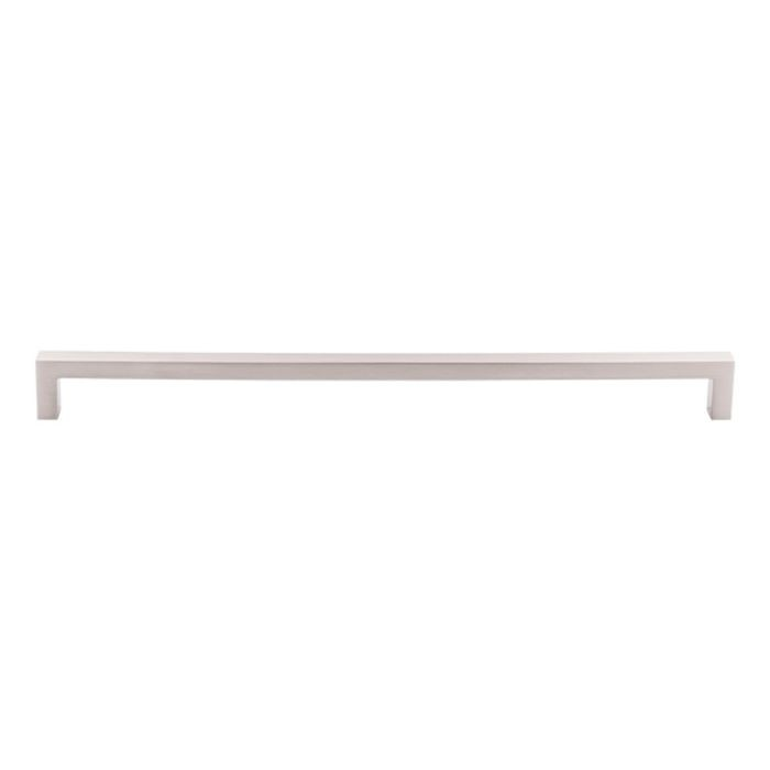 "Square Bar Pull 12 5/8"" C/C Brushed Satin Nickel"