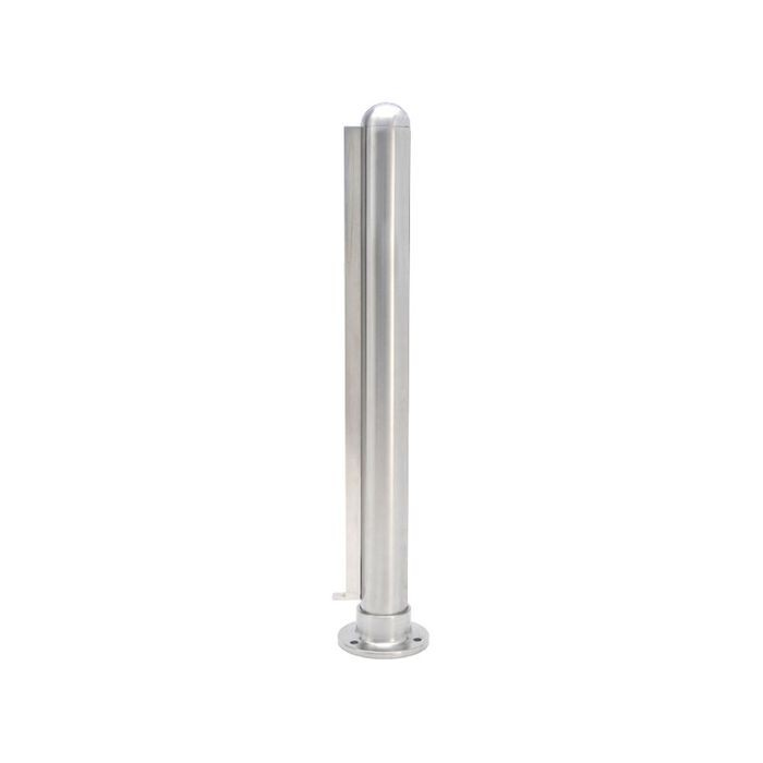 1-1/2in Dia x 16in H | Satin Stainless Steel Finish | Partition End Post