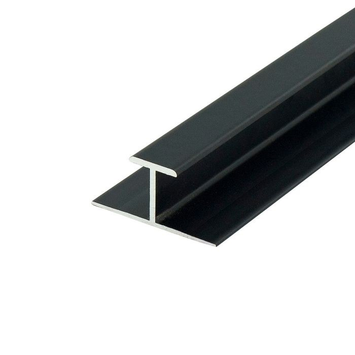1/2in Black Aluminum | Divider Moulding | 12ft Length