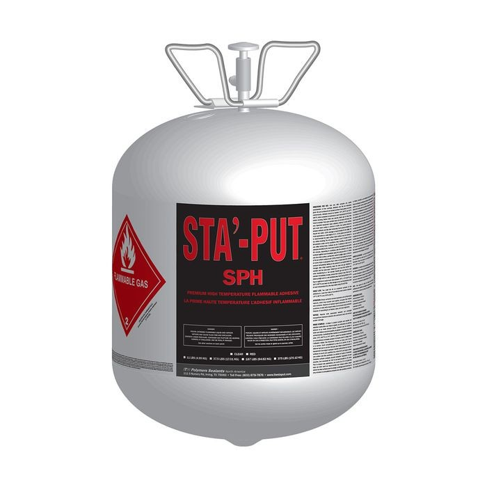 Red Stay-Put SPH Spray Adhesive 34lbs Canister