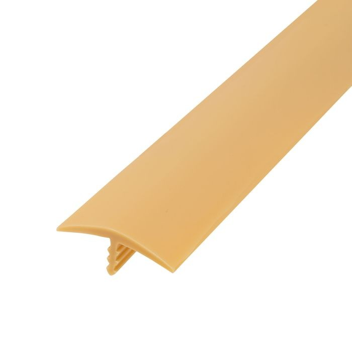 1-1/8in 579 Light Tan Flexible Polyethylene | Center Barb Tee Moulding | 250ft Coil