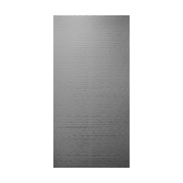10' Wide x 4' Long Mojave Pattern Brushed Aluminum Finish Thermoplastic Flexlam Wall Panel