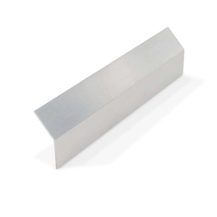 "1"" x 1"" x 1/16"" Thick Mill Finish Aluminum Even Leg Angle Moulding 12' Length"