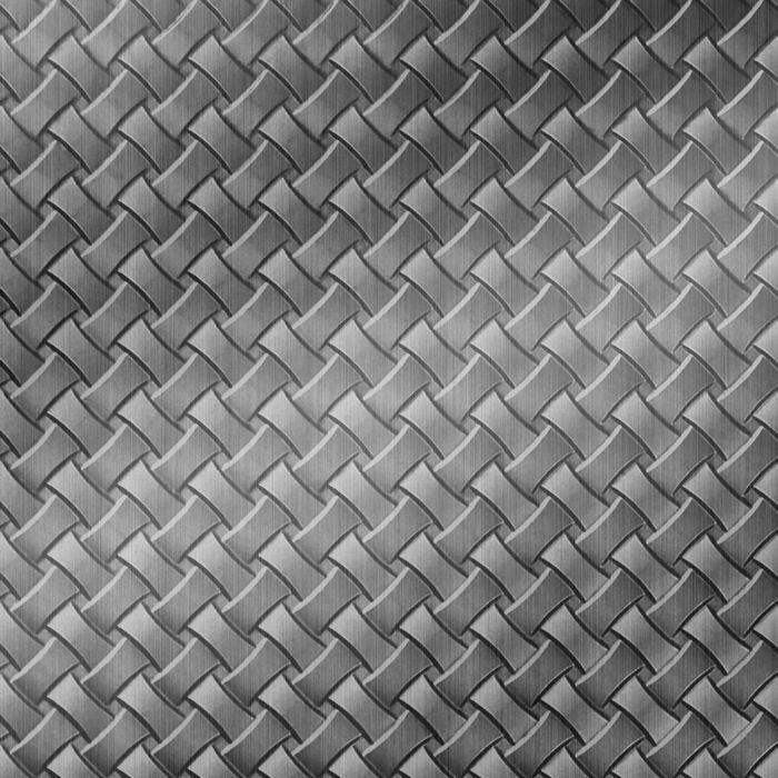 FlexLam 3D Wall Panel | 4ft W x 10ft H | Celtic Weave Pattern | Brushed Stainless Finish