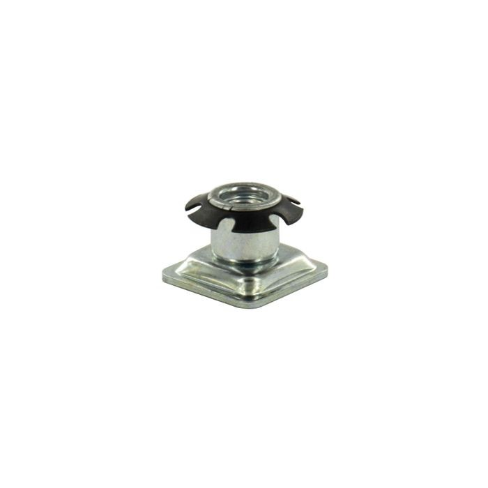 7/8in Square | 3/8-16 Thread | Heat Treated Carbon Steel | Square Single Star Metal Insert