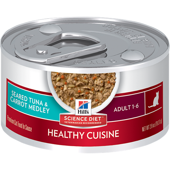 Adult Healthy Cuisine Seared Tuna & Carrot Medley Cat Food