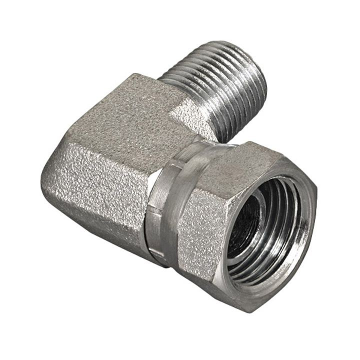 "¼"" MPT X ¼"" FPT 90 degree Hydraulic Adapter"