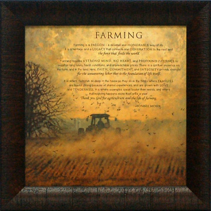 """Farming"" Beautiful Framed Art"