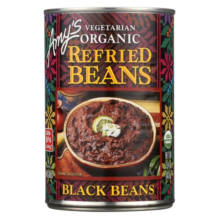 - Organic Refried Black Beans - Case Of 12 - 15.4 Oz.