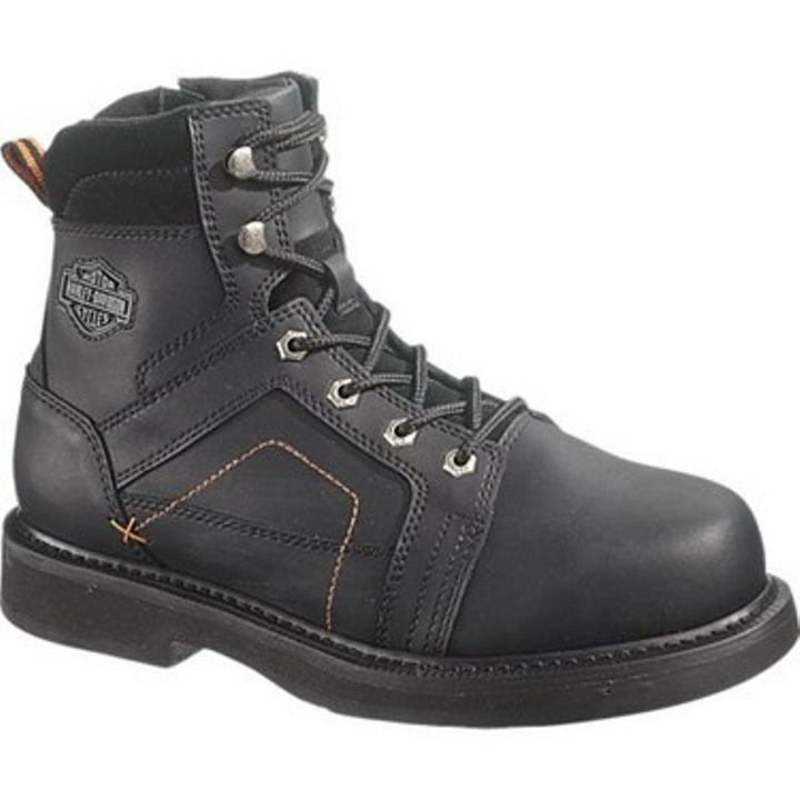 "Men's Black Leather 6"" Pete Steel Toe Boot"