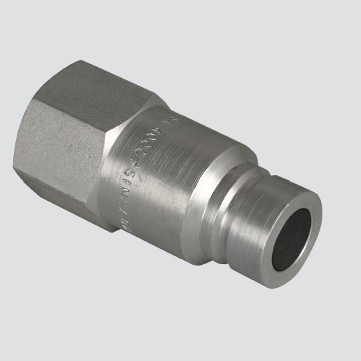 1/2 Inch Flat Face Male Tip x 1/2 Inch Female Pipe Thread Quick Disconnect Skid Steer Coupler