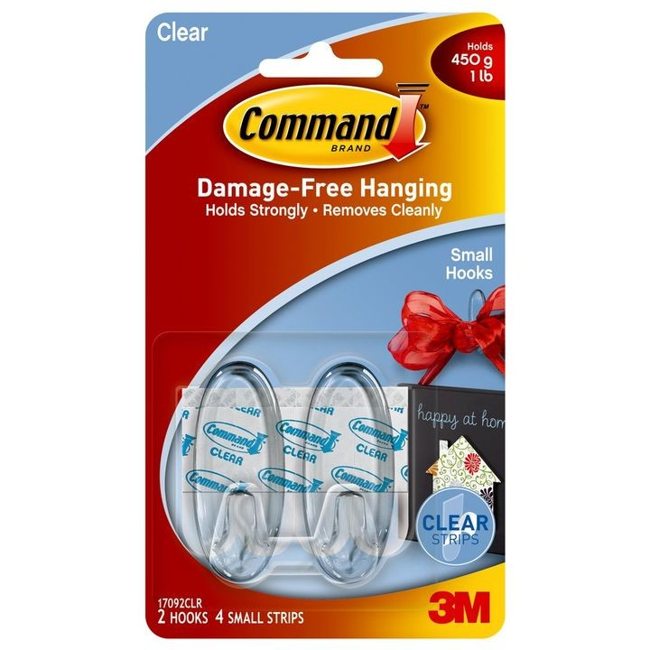 Command™ Clear Small Hook & Strips Kit