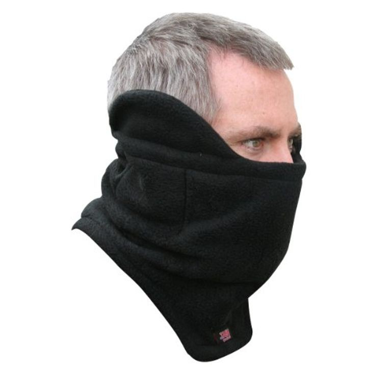 Men s Black Neck Gaiter   Hand Heat Warmer Pockets  bdebd3243f3c
