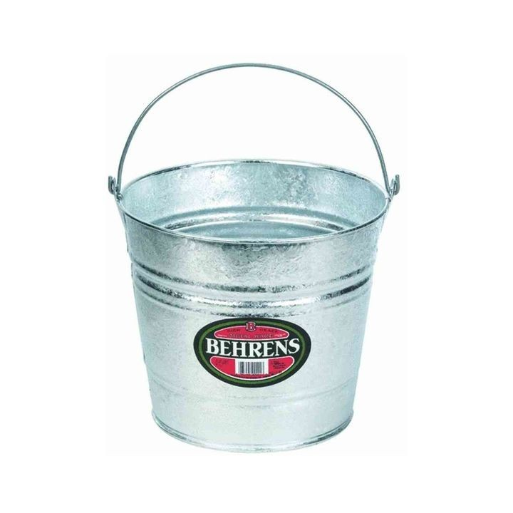 10 QT Hot Dipped Metal Water Bucket