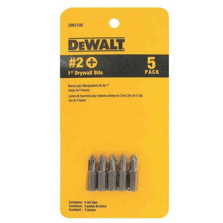 "#2 1"" Drywall Bit Tips /w Clipstrip"