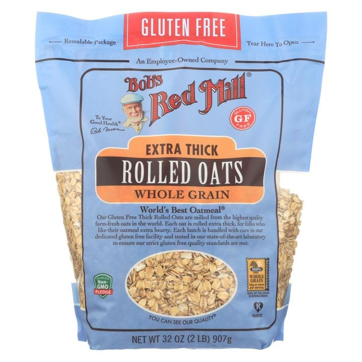 - Thick Rolled Oats - Gluten Free - Case Of 4-32 Oz.