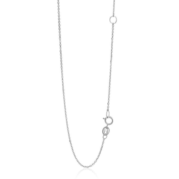 14k White Gold Adjustable Cable Chain 1.1mm