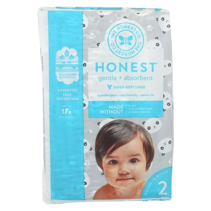 - Diapers Size 2 - Pandas  - 32 Count