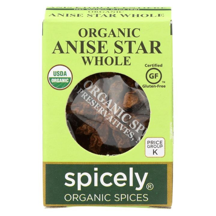 - Organic Star Anise - Whole - Case Of 6 - 0.1 Oz.
