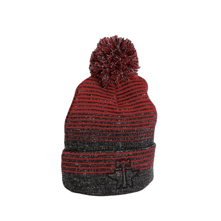 Knit Beanie W poof Ball Caps  cc837dc3f33