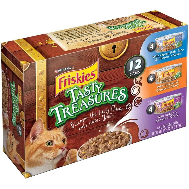 Friskies Tasty Treasures Canned Cat Food