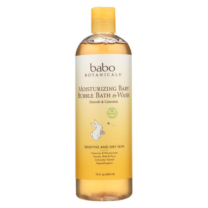 - Baby Bubble Bath And Wash - Moisturizing - Oatmilk - 15 Oz