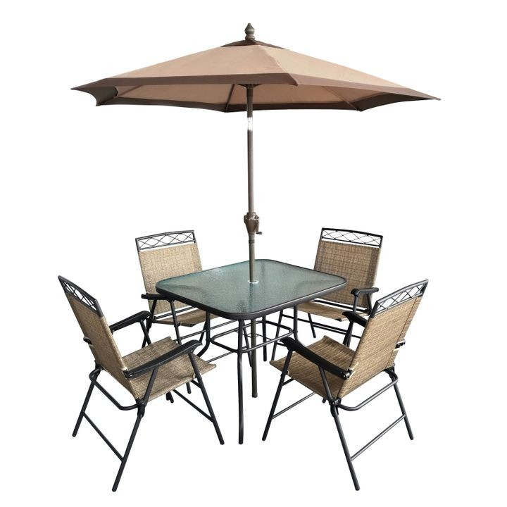 6-Piece Table & Chairs Patio Set - 6-Piece Table & Chairs Patio Set Theisen's Home & Auto