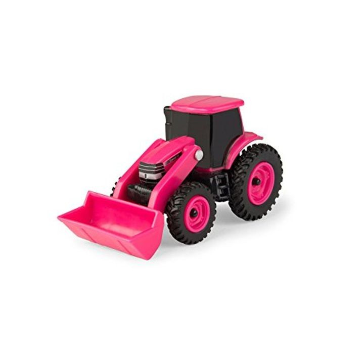 1:64 Collect N Play Pink Tractor With Loader