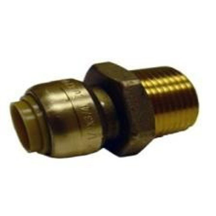 "1"" x 1"" Straight Stop Push Fitting"