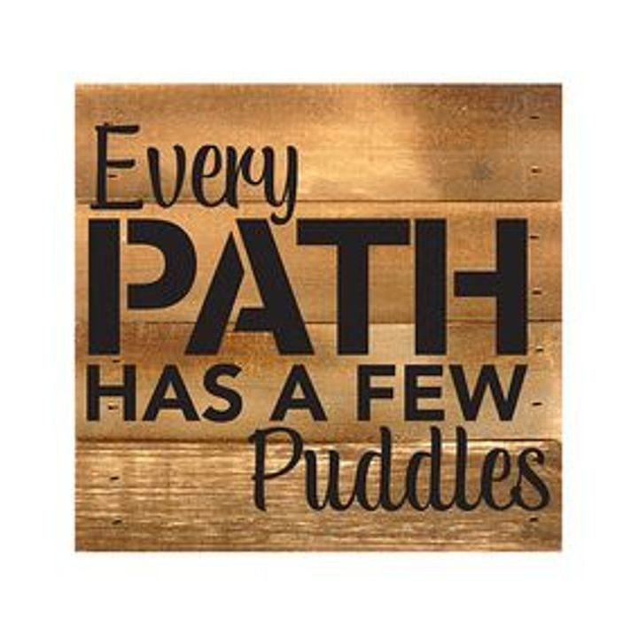 """Every Path Has a Few Puddles"" Boxed Art"