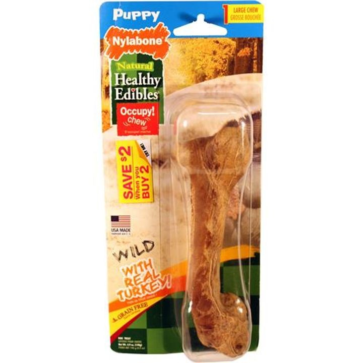 1 Count Healthy Edibles Puppy Chews Wild Turkey Large