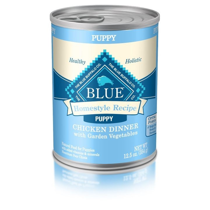 BLUE Homestyle Recipe Chicken Dinner Canned Puppy Food