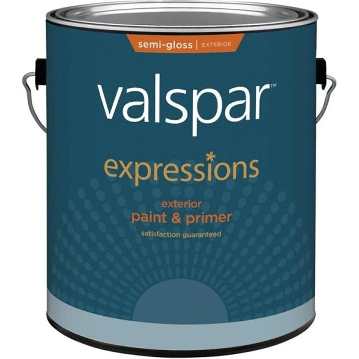 1 Gallon Semi-Gloss White Base Expression Exterior Latex Paint