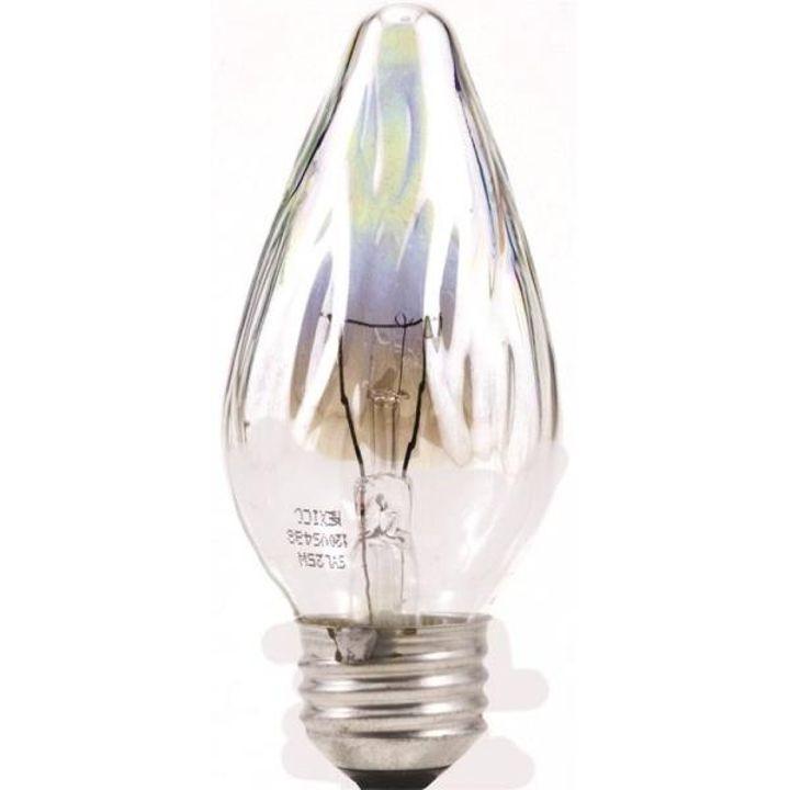 60 Watt F15 Decorative Incandescent Flame Light Bulb 2 Pack